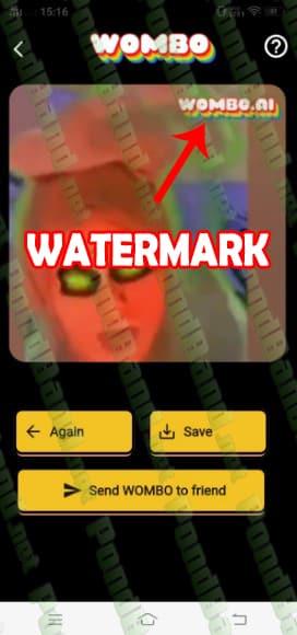 watermark WOMBO AI