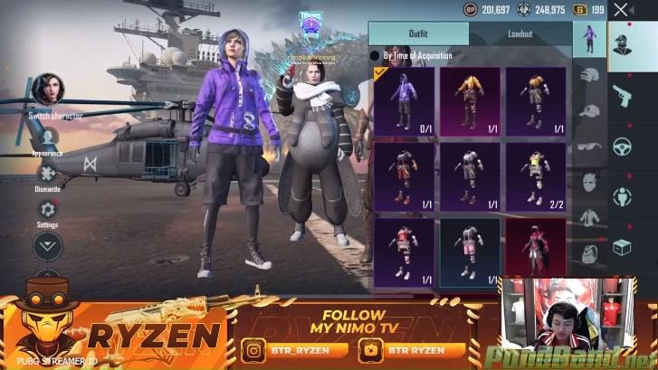 Tersedia Berbagai Macam Outfit Karakter
